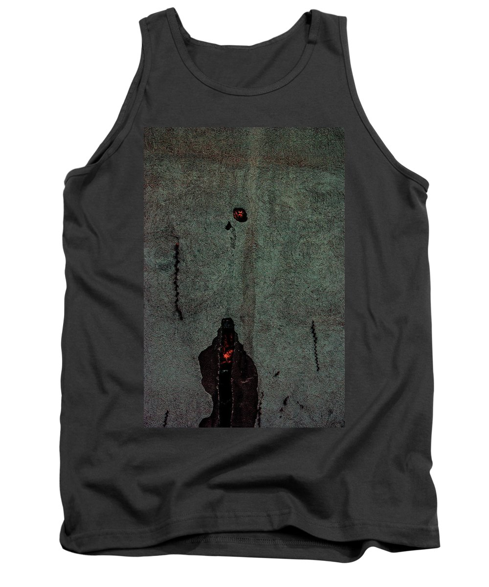 Architecture Tank Top featuring the photograph Mysterious Wall by Peter Benkmann