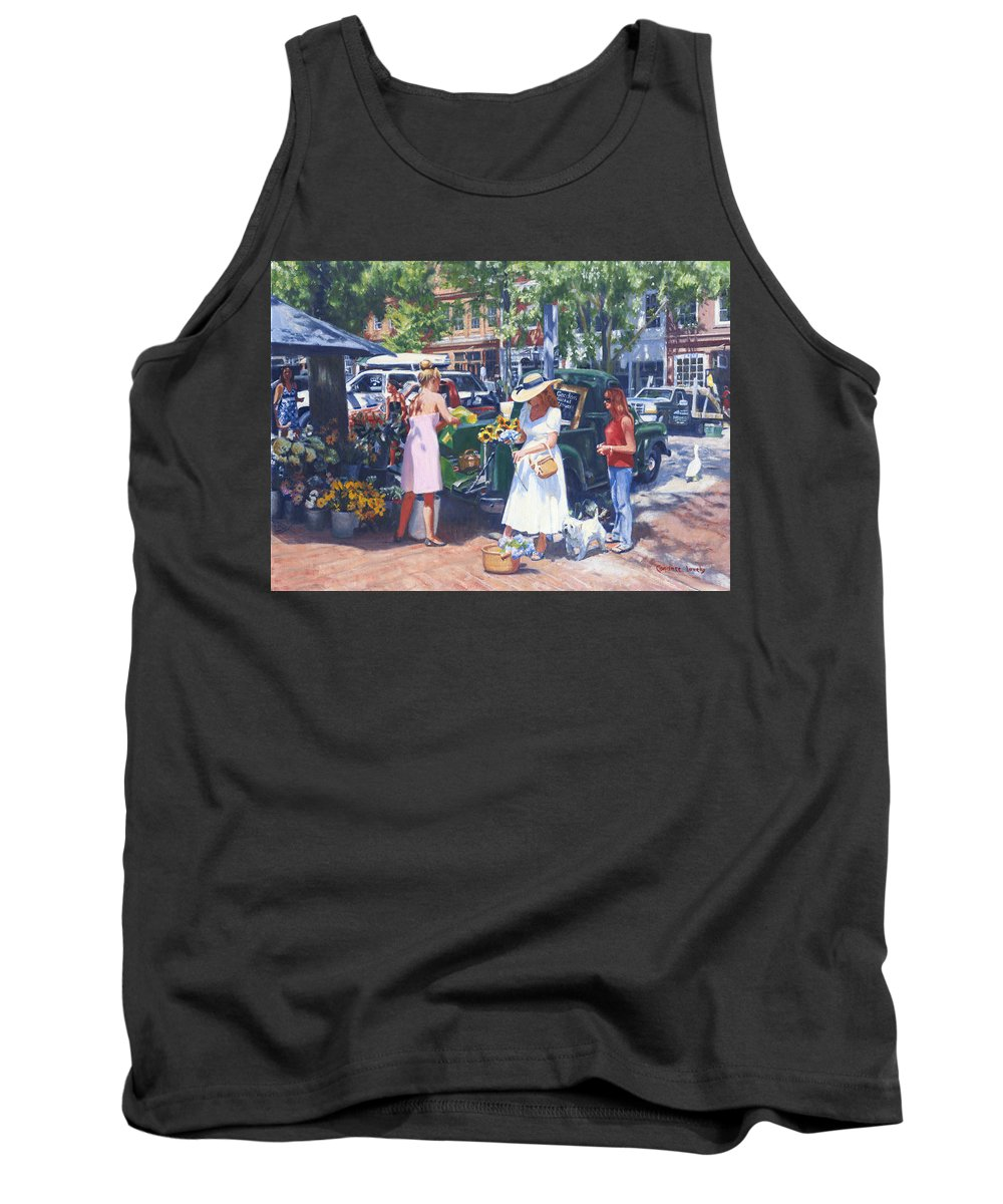 Nantucket Tank Top featuring the painting Nantucket Main by Candace Lovely