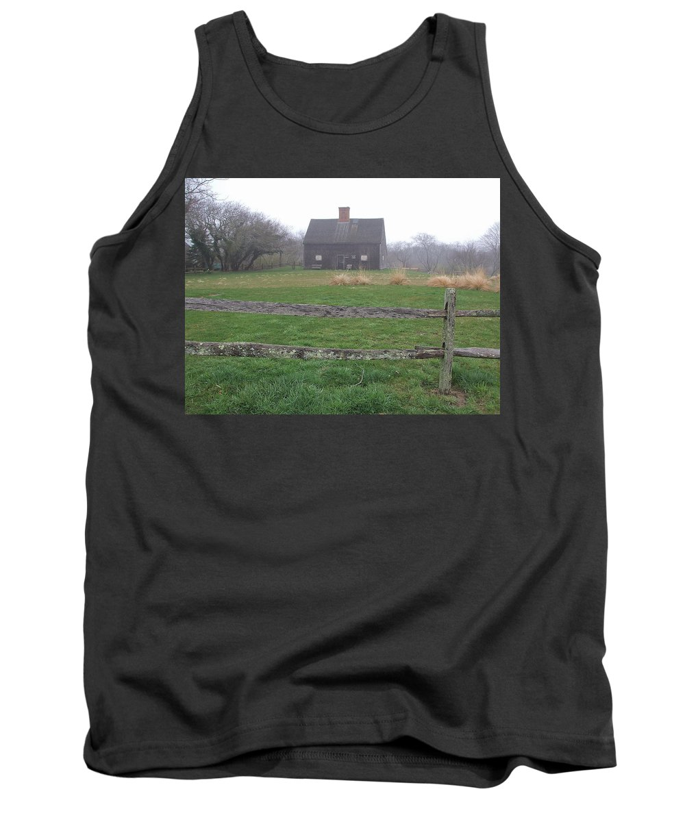 Oldest House Tank Top featuring the photograph Nantucket's Oldest House by Susan Wyman