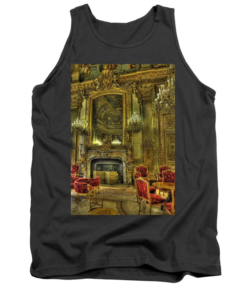 Paris Louvre Tank Top featuring the photograph Napoleon IIi Room by Michael Kirk