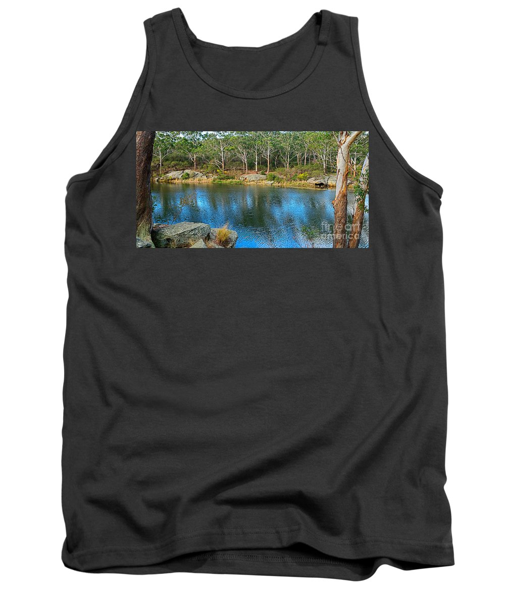 Photography Tank Top featuring the photograph Nature In The City by Kaye Menner