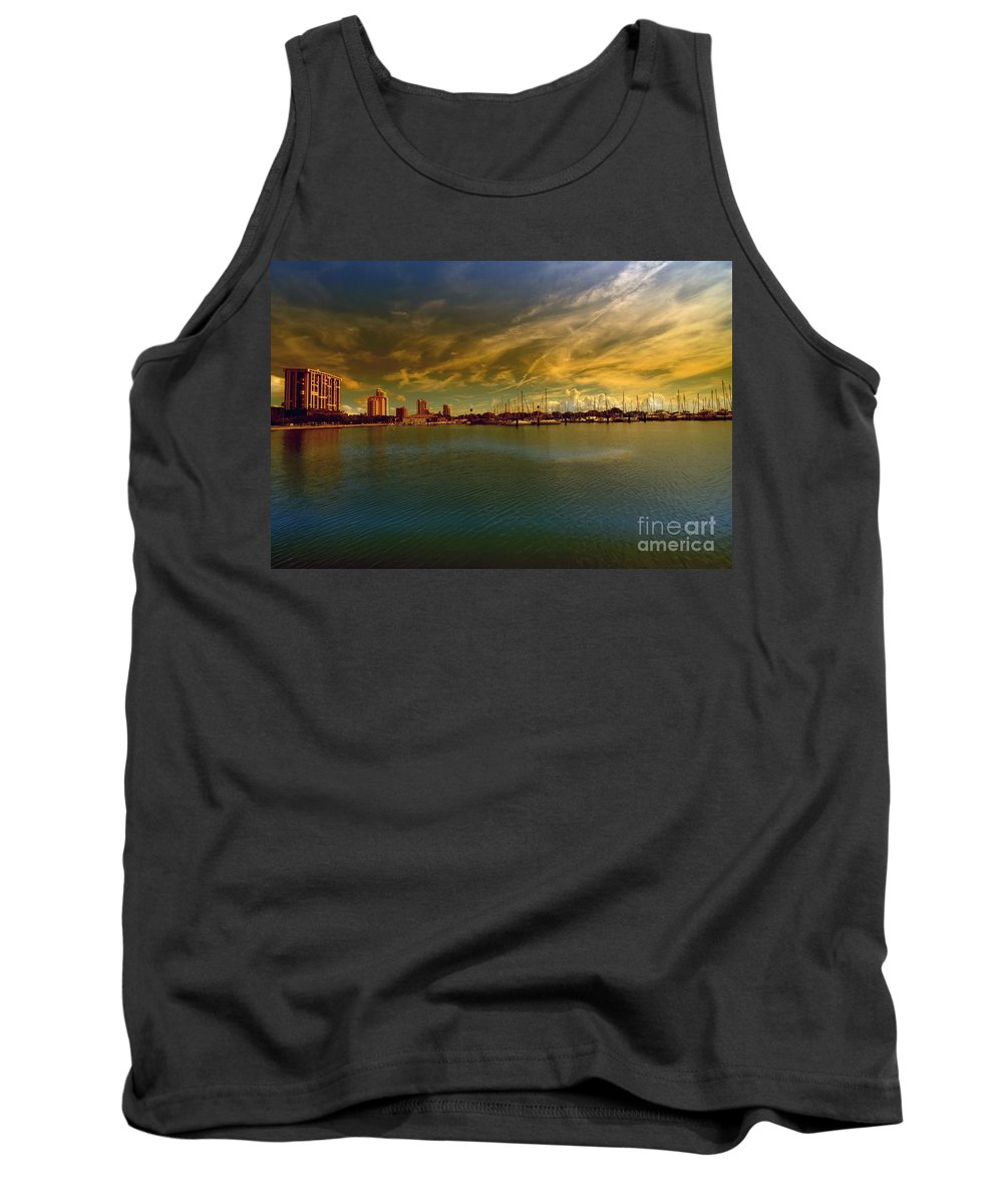 Natures Dramatic Skies Tank Top featuring the photograph Natures Dramatic Skies by Liane Wright