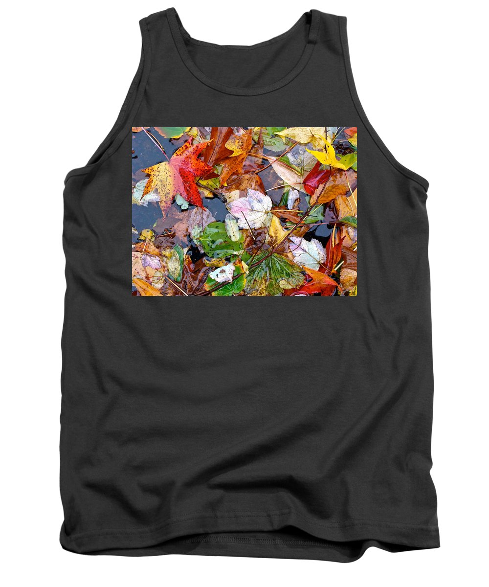 October Leaves Tank Top featuring the photograph Nature's Paintbrush by Ira Shander