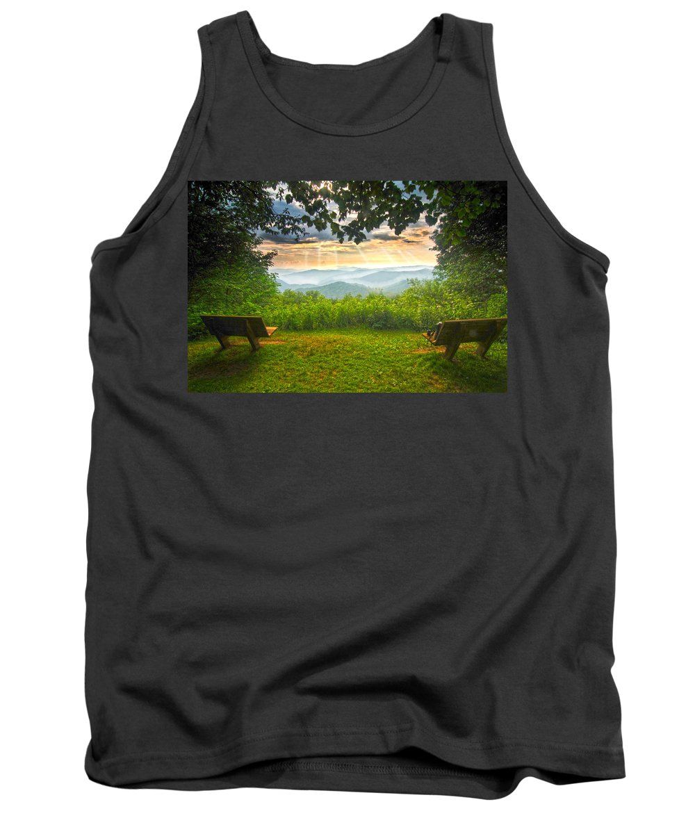 Nature's Theater Tank Top featuring the photograph Nature's Theater by Randall Branham