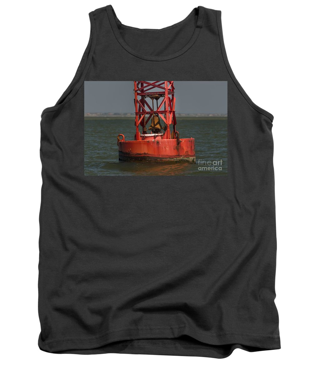 Buoy Tank Top featuring the photograph Navigational Bell by Dale Powell