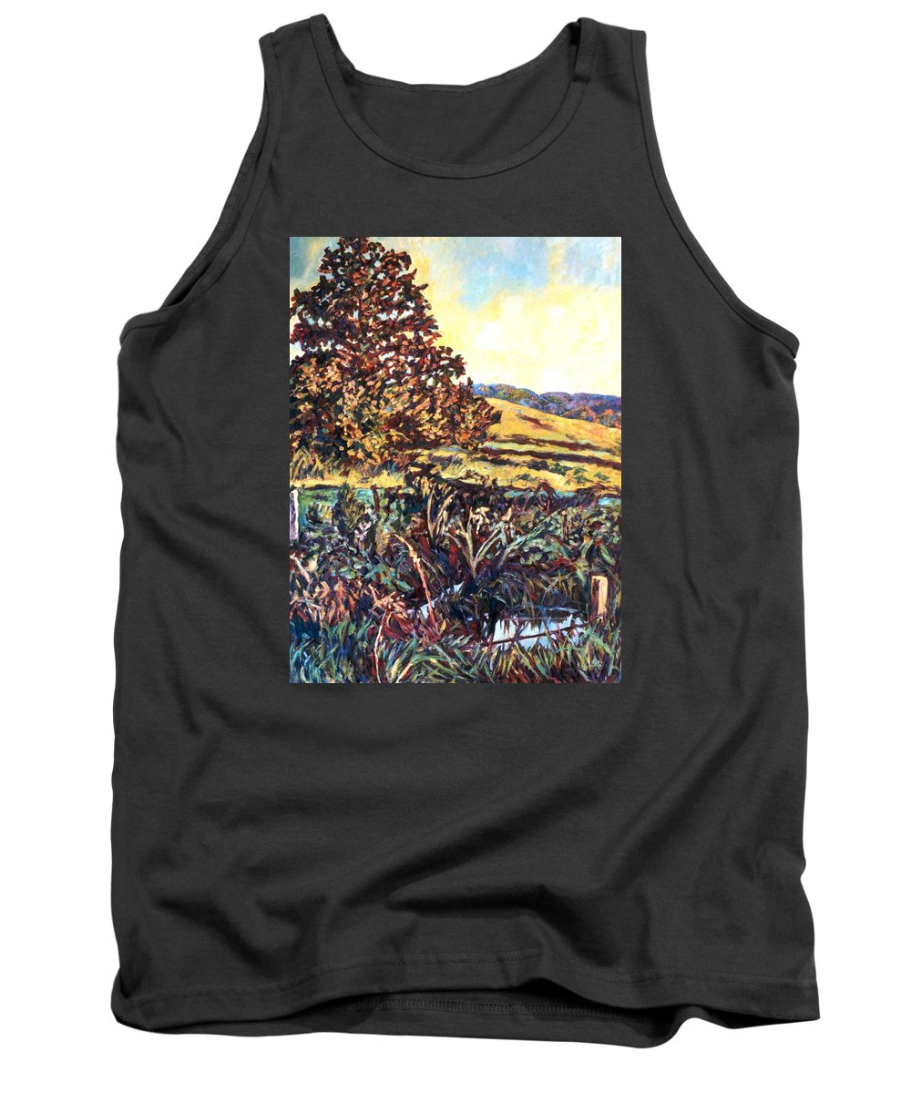 Landscape Tank Top featuring the painting Near Childress by Kendall Kessler
