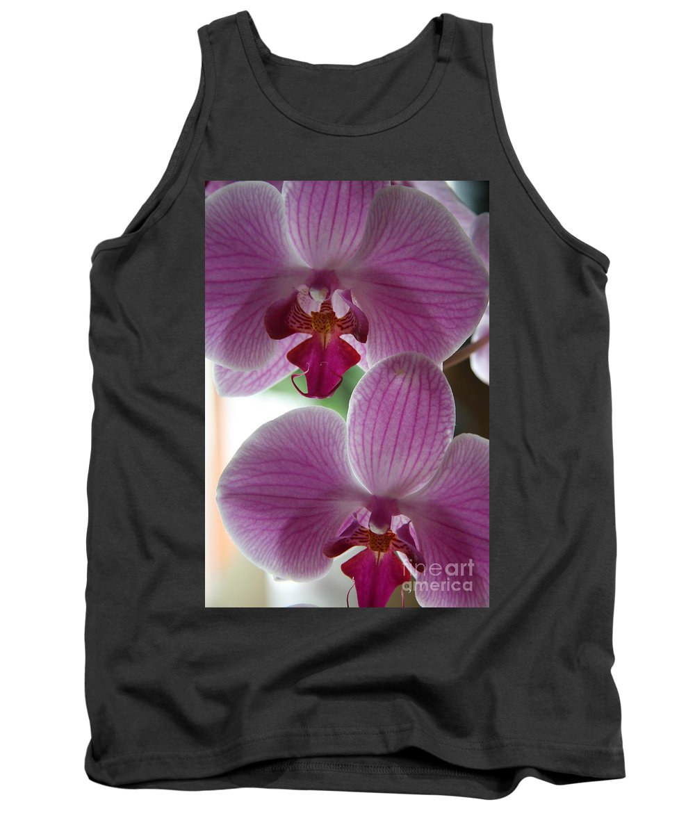 Orchid Tank Top featuring the photograph Neat Faces by Christiane Schulze Art And Photography