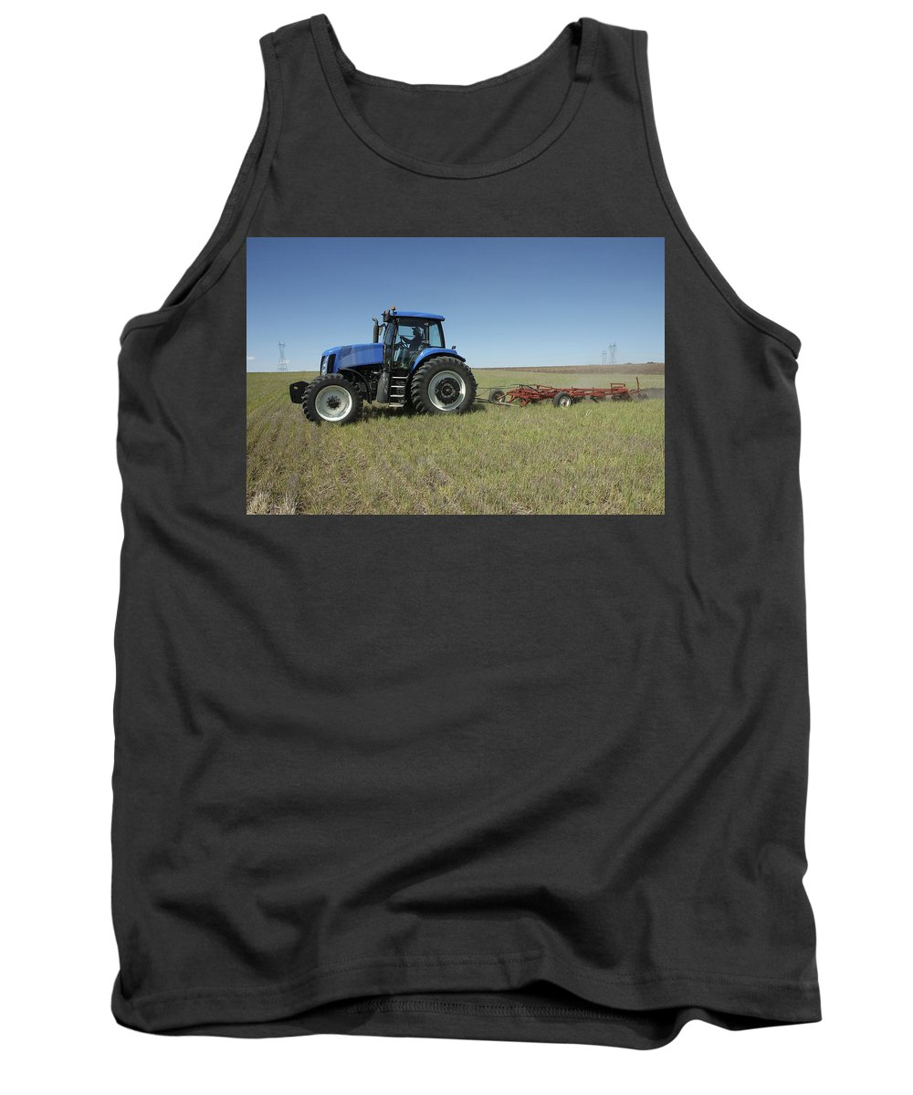 Farm Tank Top featuring the photograph Nebraska Farming by Jerry McElroy