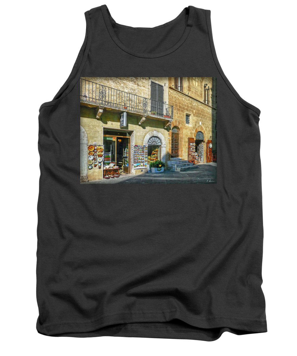 Negozi Toscani Tank Top featuring the photograph Negozi Toscani by Hanny Heim
