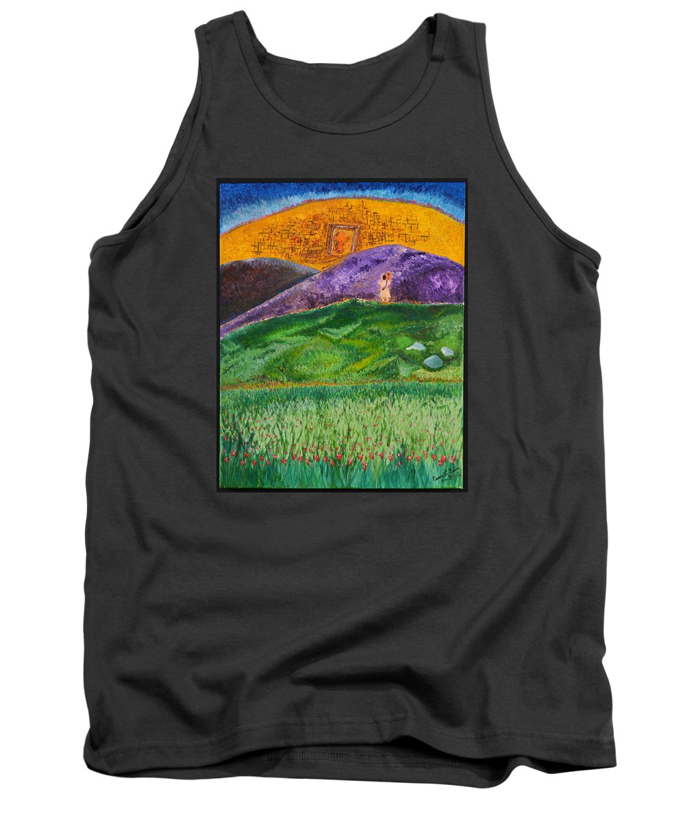 Art-by-cassie Sears Tank Top featuring the painting New Jerusalem by Cassie Sears