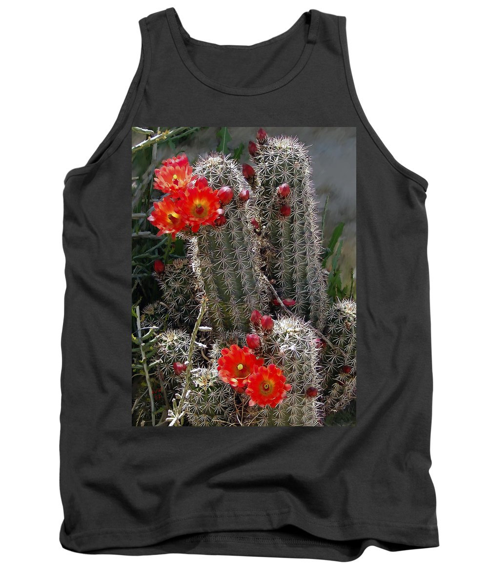 Cactus Tank Top featuring the photograph New Mexico Cactus by Kurt Van Wagner
