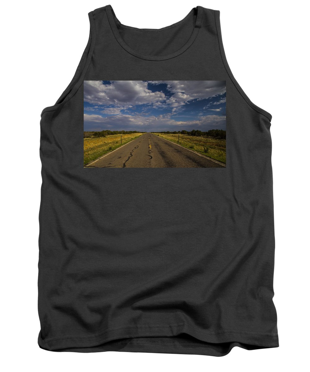 Route 66 Tank Top featuring the photograph New Mexico Road 7 by Angus Hooper Iii