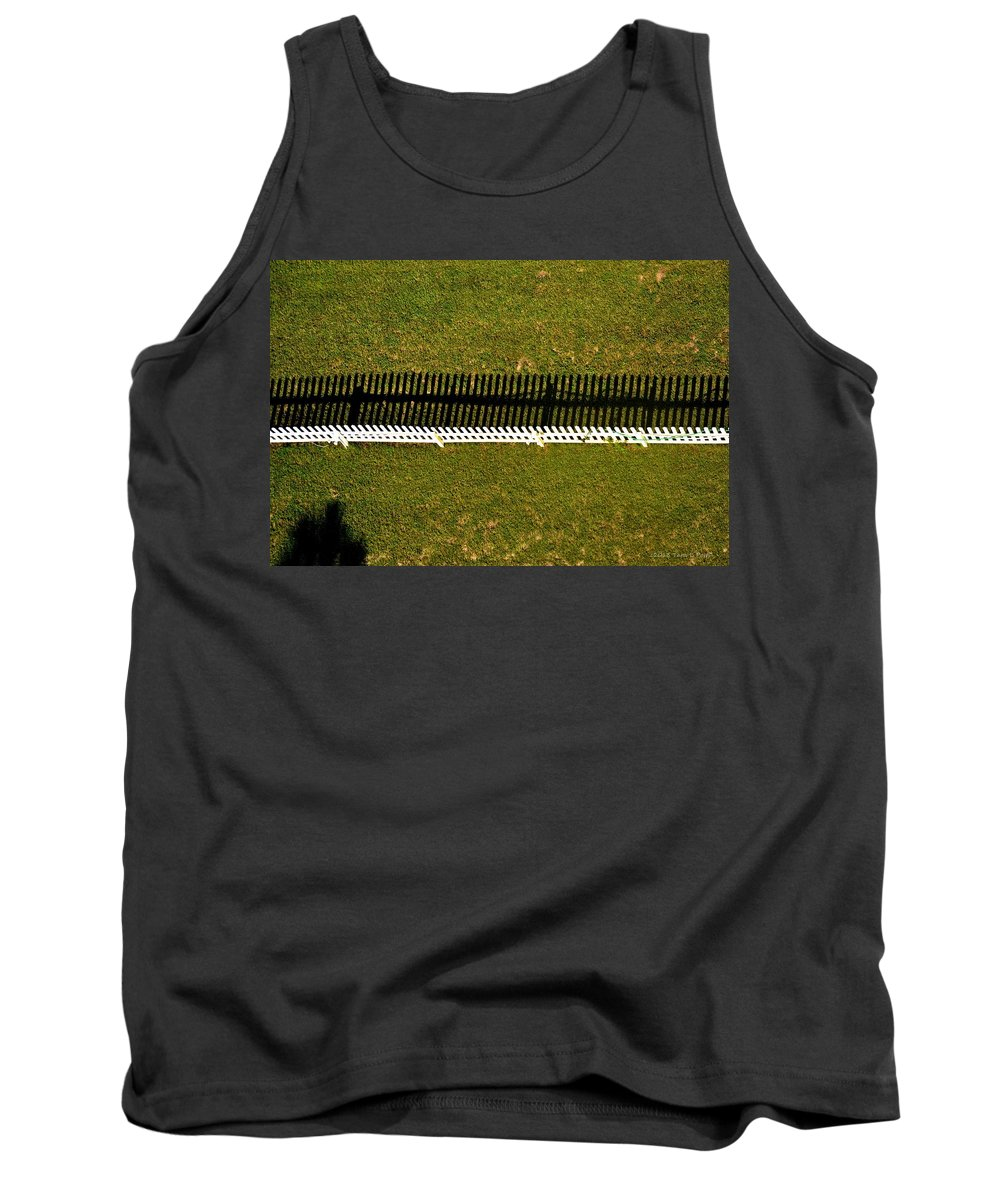 Picket Fence Tank Top featuring the photograph New Perspective Of The Picket Fence by Tara Potts