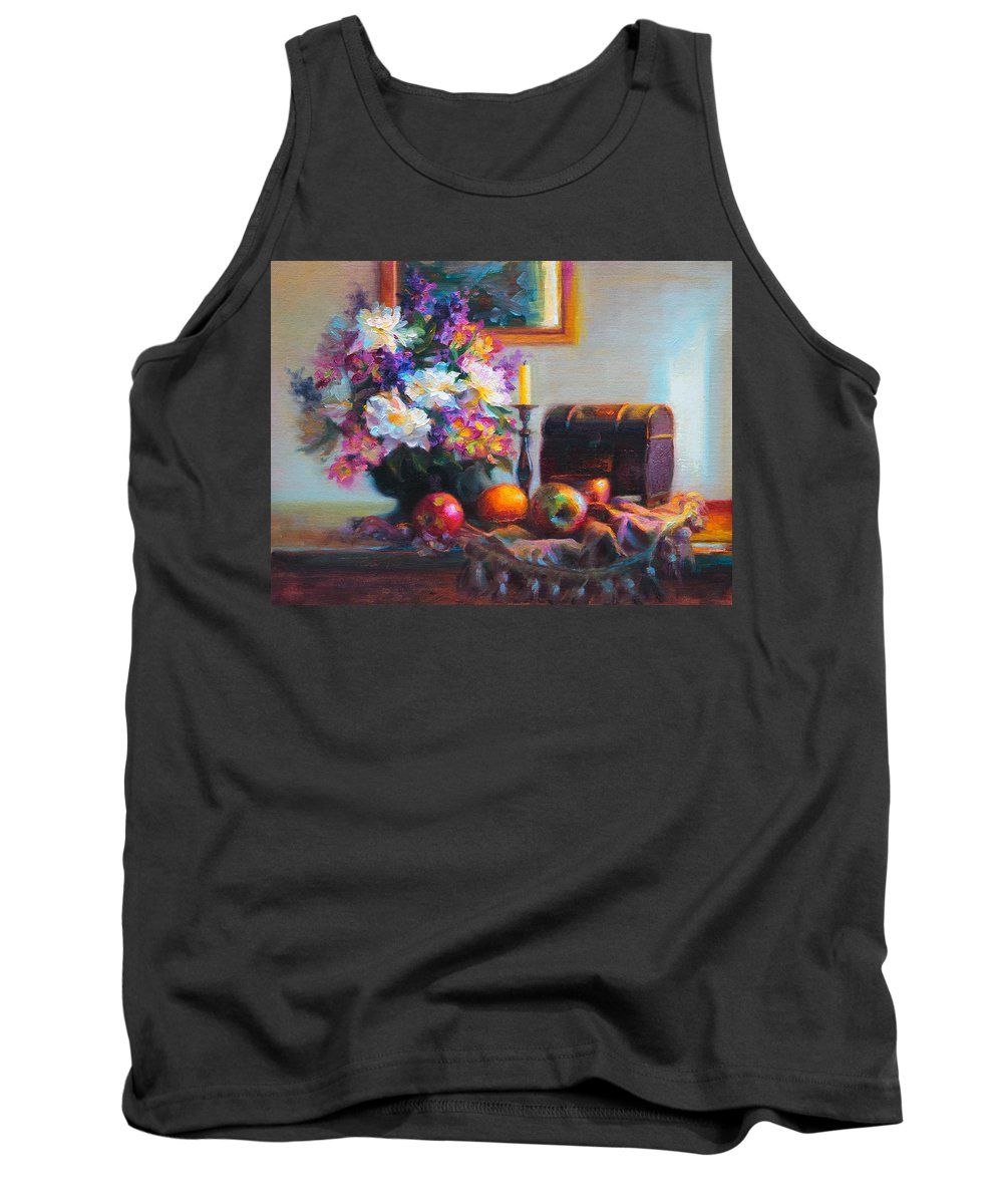 Colorful Tank Top featuring the painting New Reflections by Talya Johnson