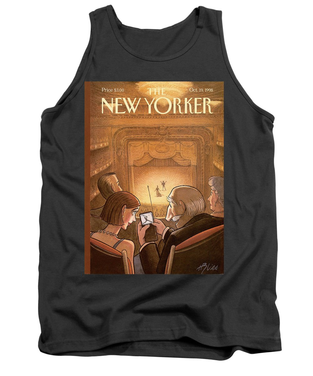 Doubleheader Tank Top featuring the painting New Yorker October 19th, 1998 by Harry Bliss