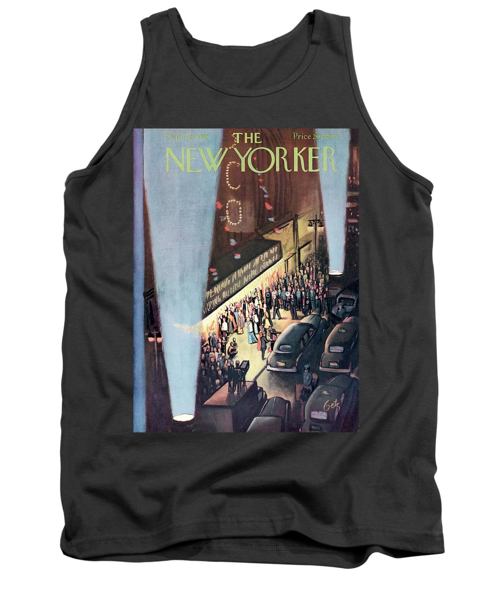 Urban Tank Top featuring the painting New Yorker September 26th, 1953 by Arthur Getz