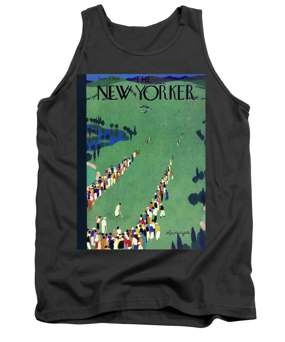 Sport Tank Top featuring the painting New Yorker September 5 1936 by Arthur K Kronengold