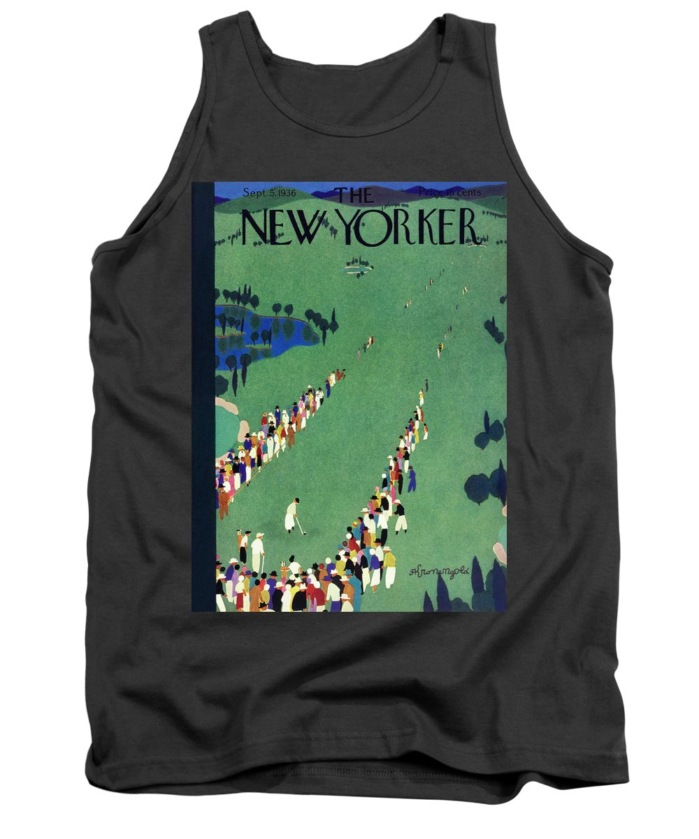 Illustration Tank Top featuring the painting New Yorker September 5 1936 by Arthur K. Kronengold