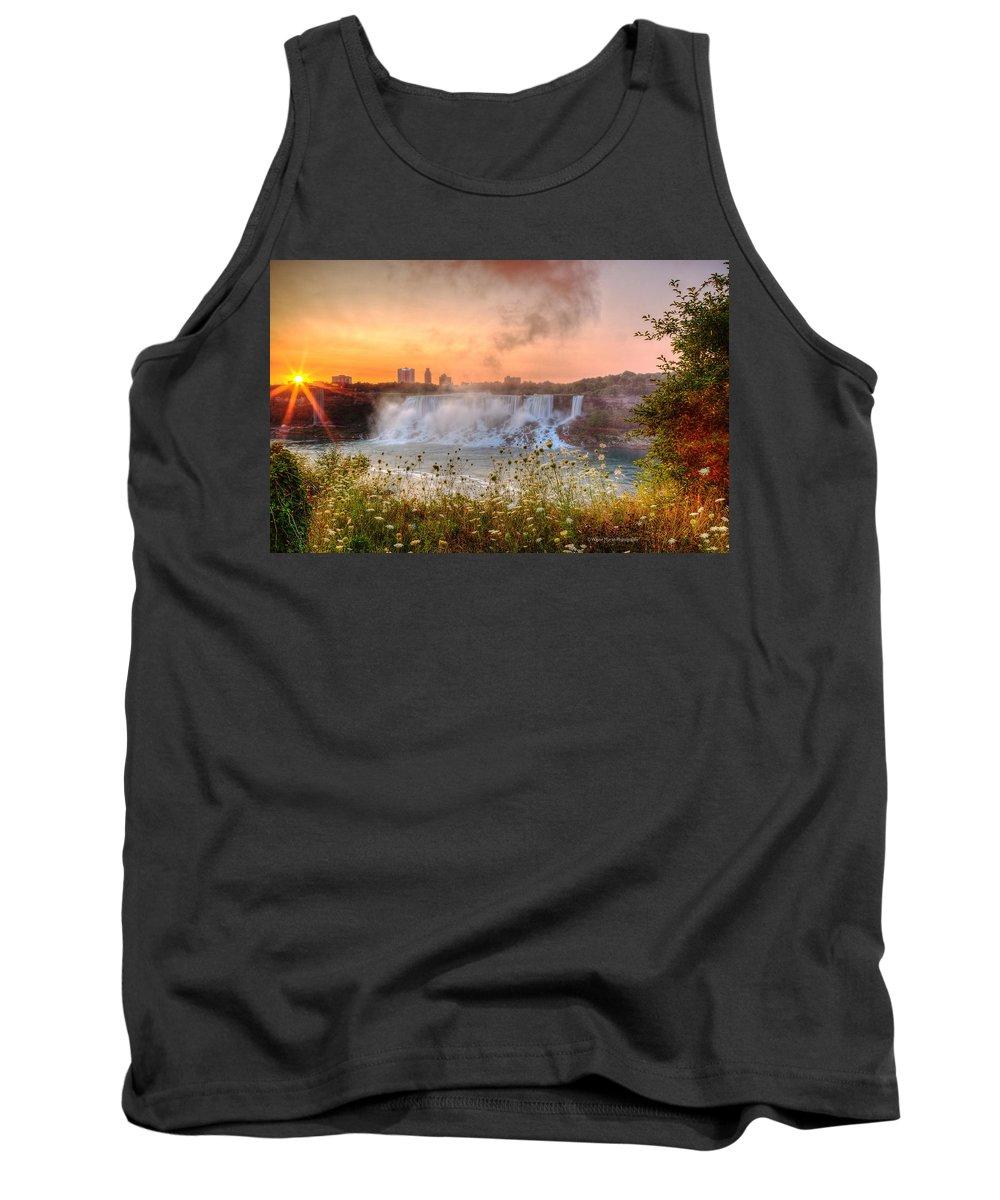 Niagara Falls Tank Top featuring the photograph Niagara Falls Canada Sunrise by Wayne Moran