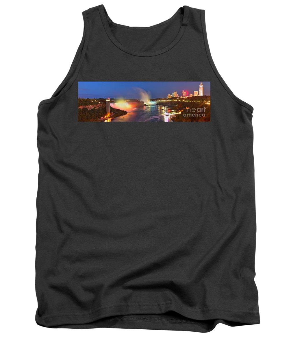 Niagara Falls Tank Top featuring the photograph Niagara Falls Ultra Wide Panorama by Adam Jewell