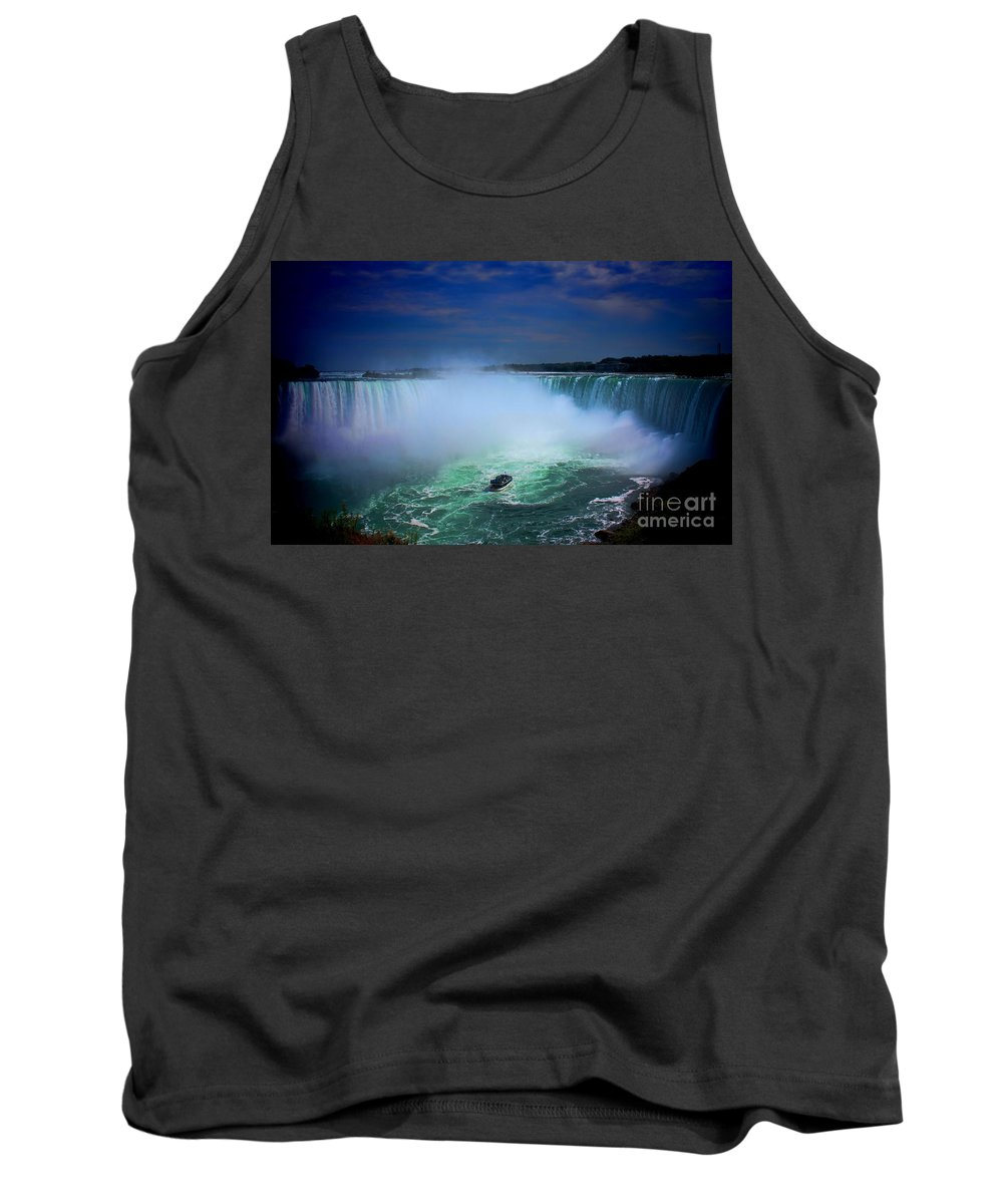 Niagra Falls Millions Of Gallons Of Water Rocket Over Niagara Falls Every Minute � About 750 Tank Top featuring the photograph Niagra Falls by RJ Aguilar