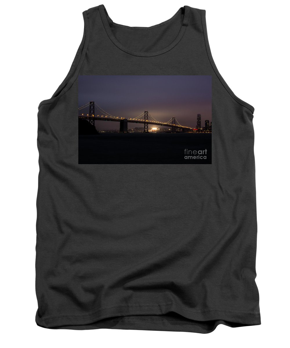 San Francisco Tank Top featuring the photograph Night Falls On San Francisco by Suzanne Luft