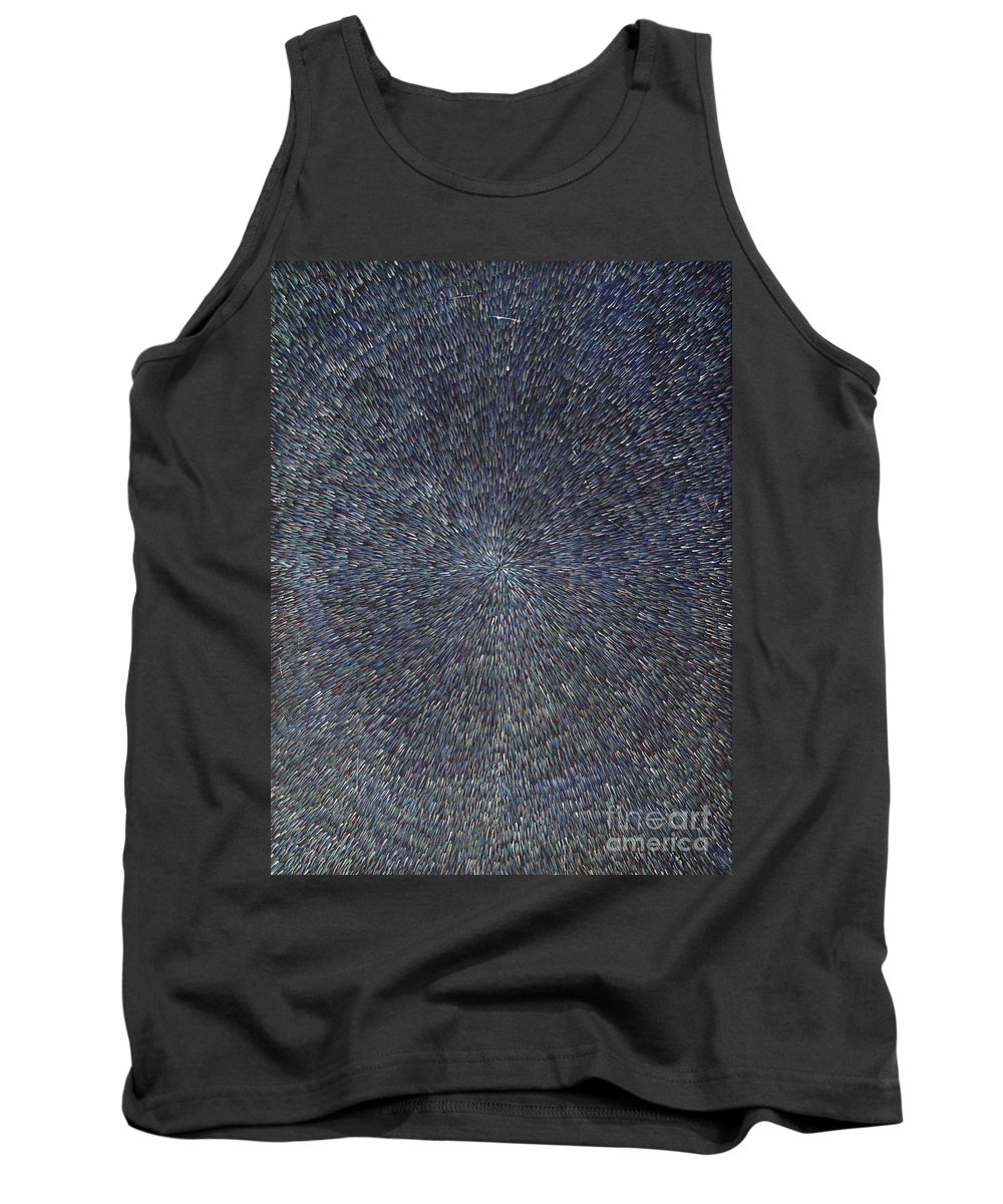 Abstract Tank Top featuring the painting Night Radiation by Dean Triolo
