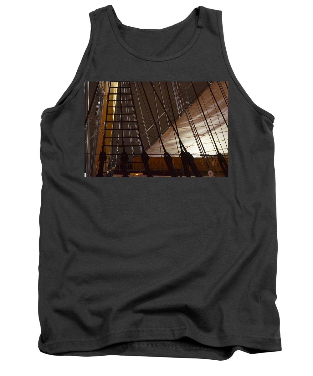 San Diego Tank Top featuring the photograph Nightview Sails And Rigging by See My Photos