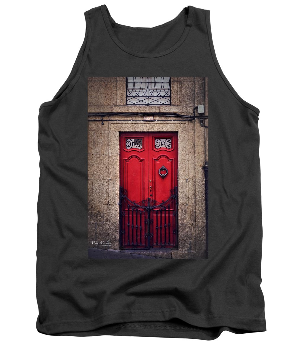 No. 24 - The Red Door Tank Top featuring the photograph No. 24 - The Red Door by Mary Machare