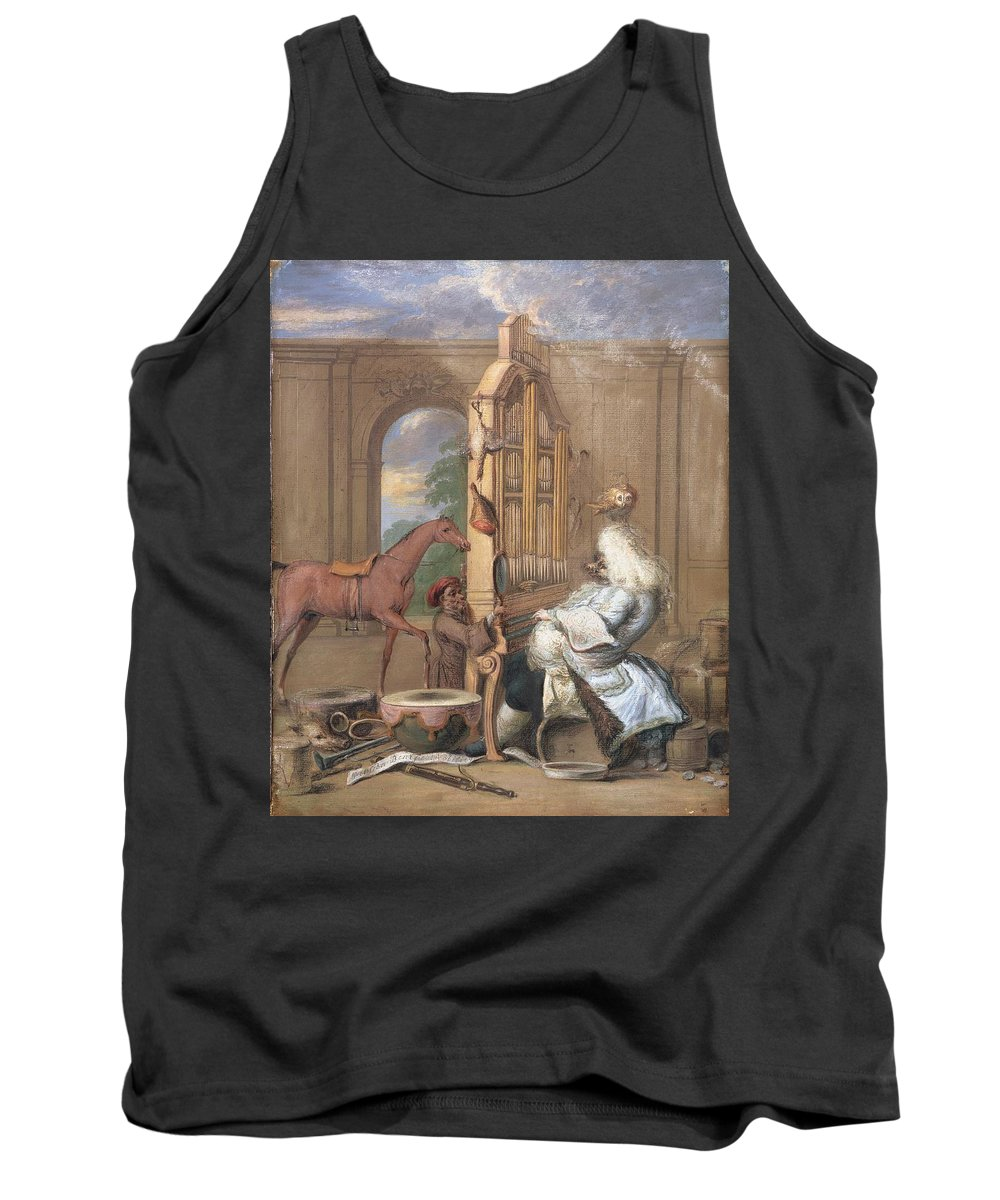 Drawing Tank Top featuring the drawing No.0961 The Charming Brute by Joseph Goupy