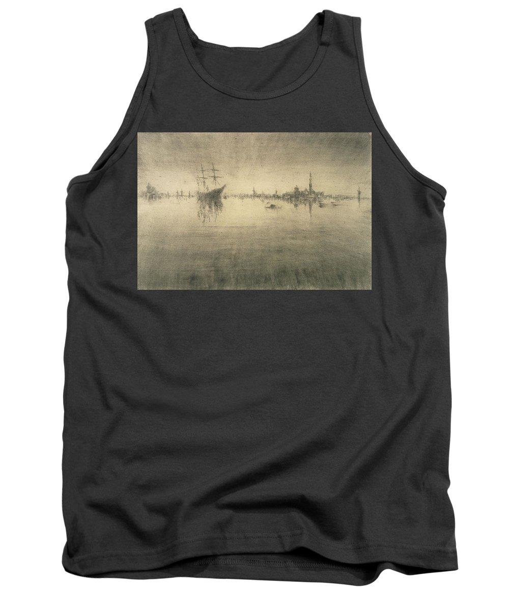 Boat Silhouette Drawings Tank Tops