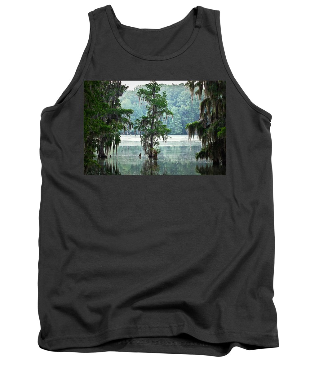 Swamp Tank Top featuring the photograph North Florida Cypress Swamp by Rich Leighton