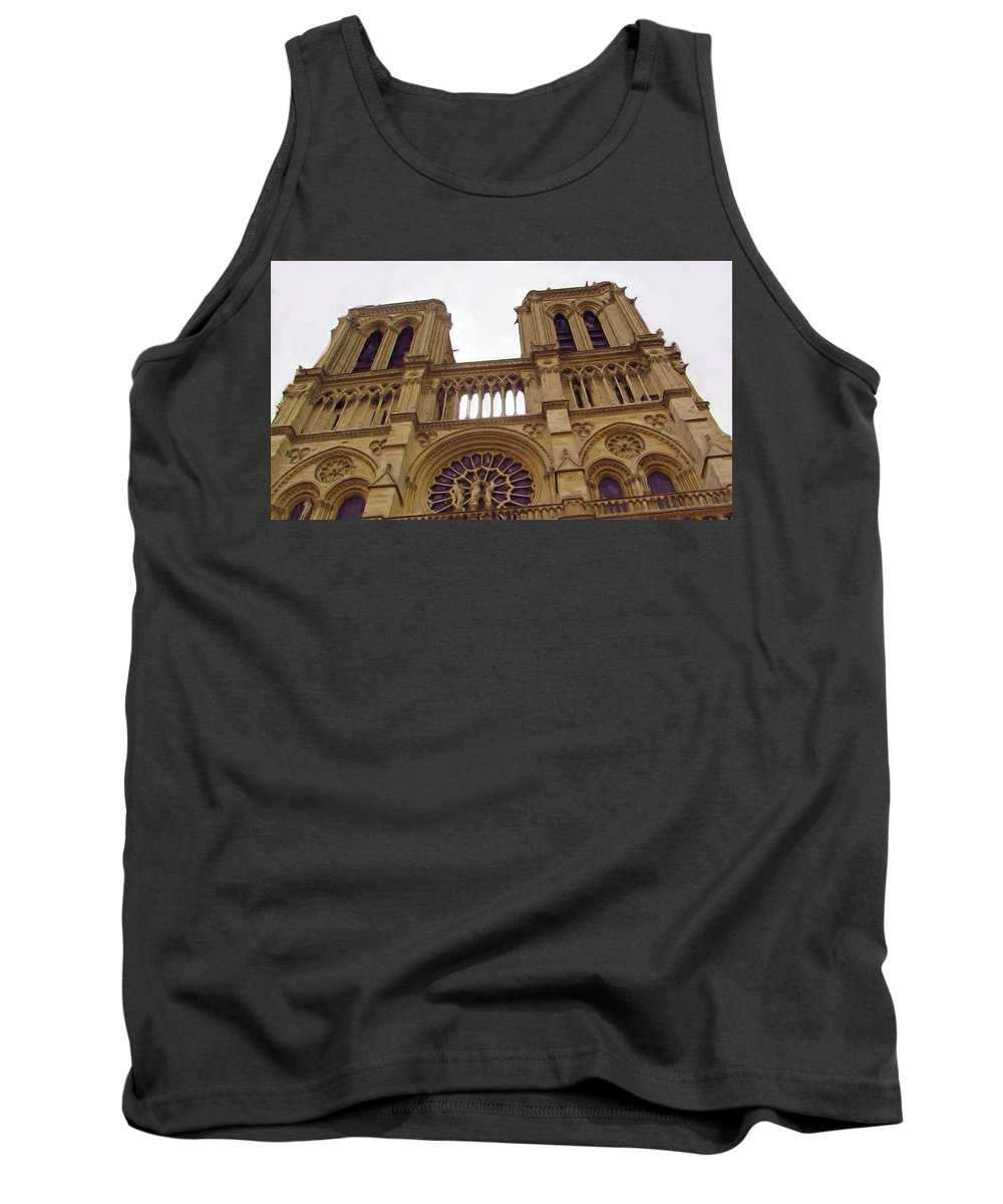 Notre Dame Tank Top featuring the photograph Notre Dame by Jenny Armitage