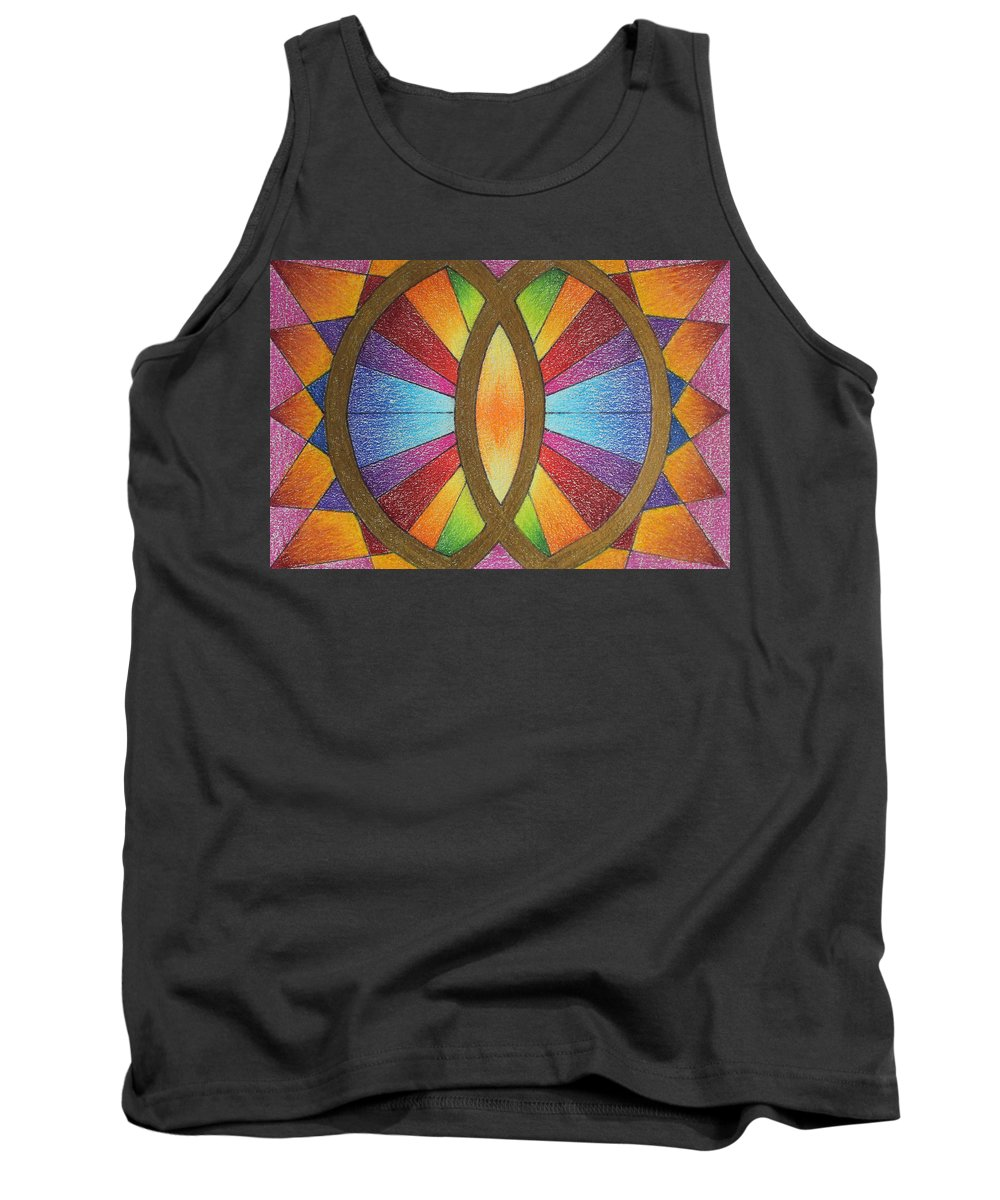 Colored Pencil Tank Top featuring the drawing Number 10 by Karen Tagstrom