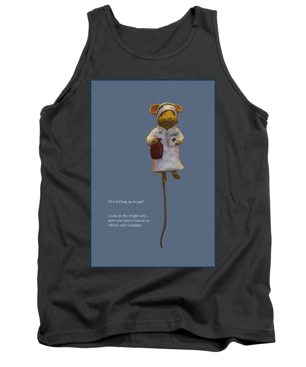 Nurse Mouse Figure Tank Top featuring the photograph Nurse Mouse by Sally Weigand