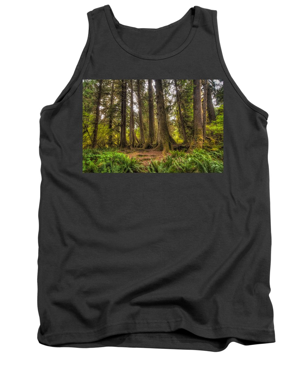 Hoh Rain Forest Tank Top featuring the photograph Nursery Log by Rich Leighton