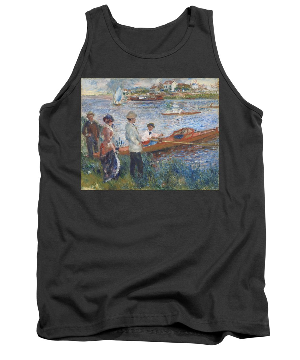 Auguste Renoir Tank Top featuring the painting Oarsmen At Chatou by Auguste Renoir