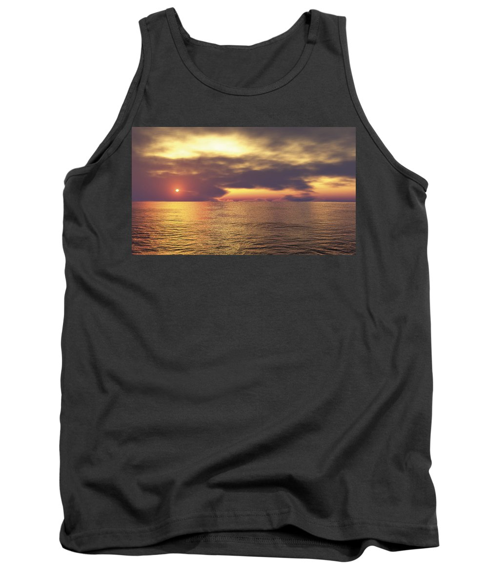 Ocean Tank Top featuring the digital art Ocean 2 by Mark Greenberg