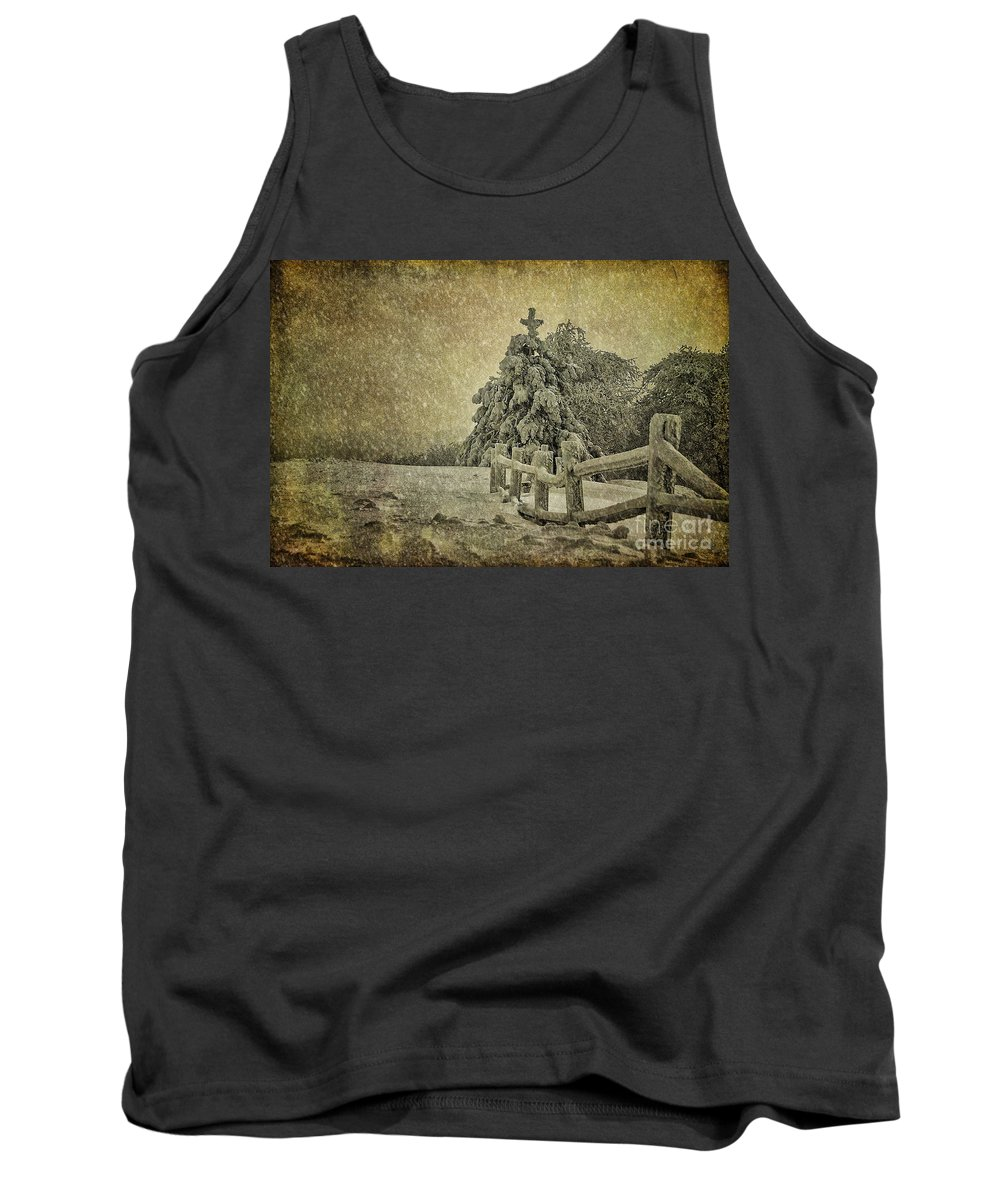 Tree Tank Top featuring the photograph Oh Christmas Tree In Snow by Lois Bryan