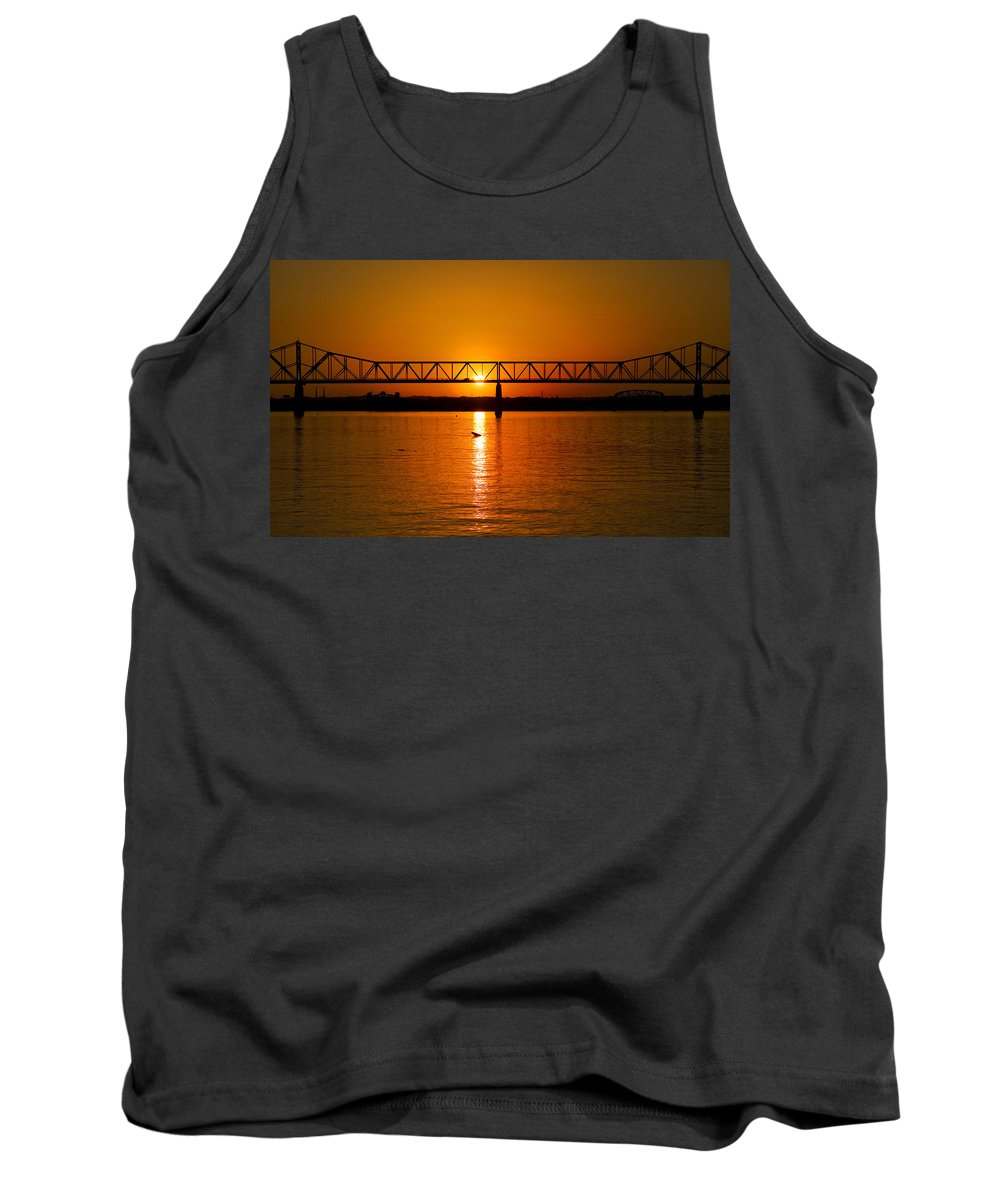 Ohio River Tank Top featuring the photograph Ohio Sunset by Diana Powell