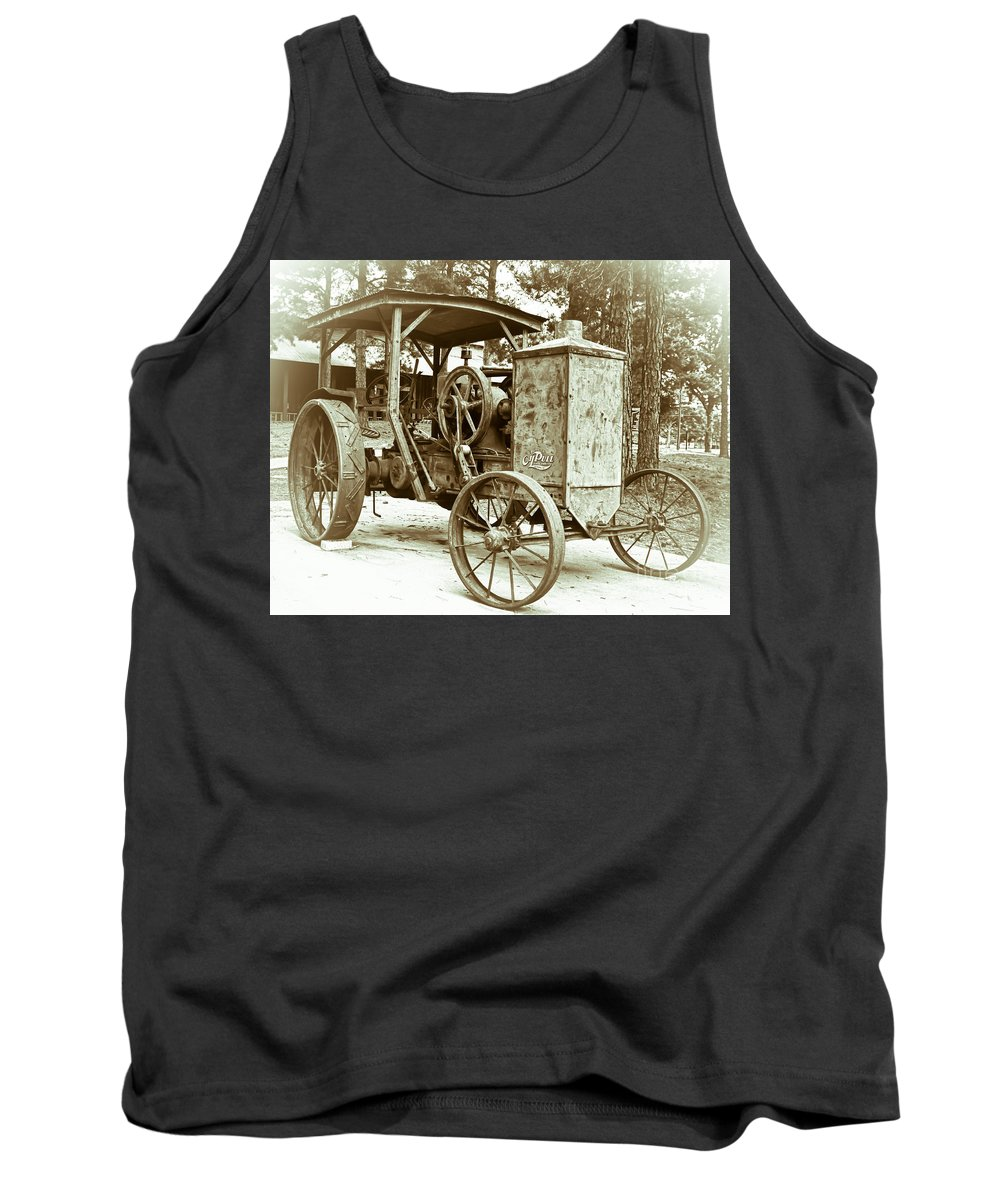 Tractor Tank Top featuring the photograph Oil Pull by Robert Frederick