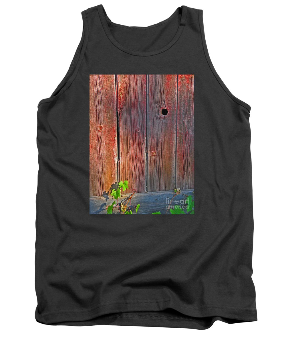Barn Tank Top featuring the photograph Old Barn Wood by Ann Horn
