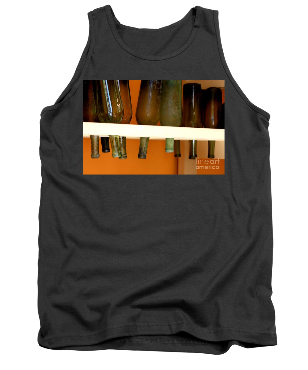 Bottles Tank Top featuring the photograph Old Bottles by Carol Groenen