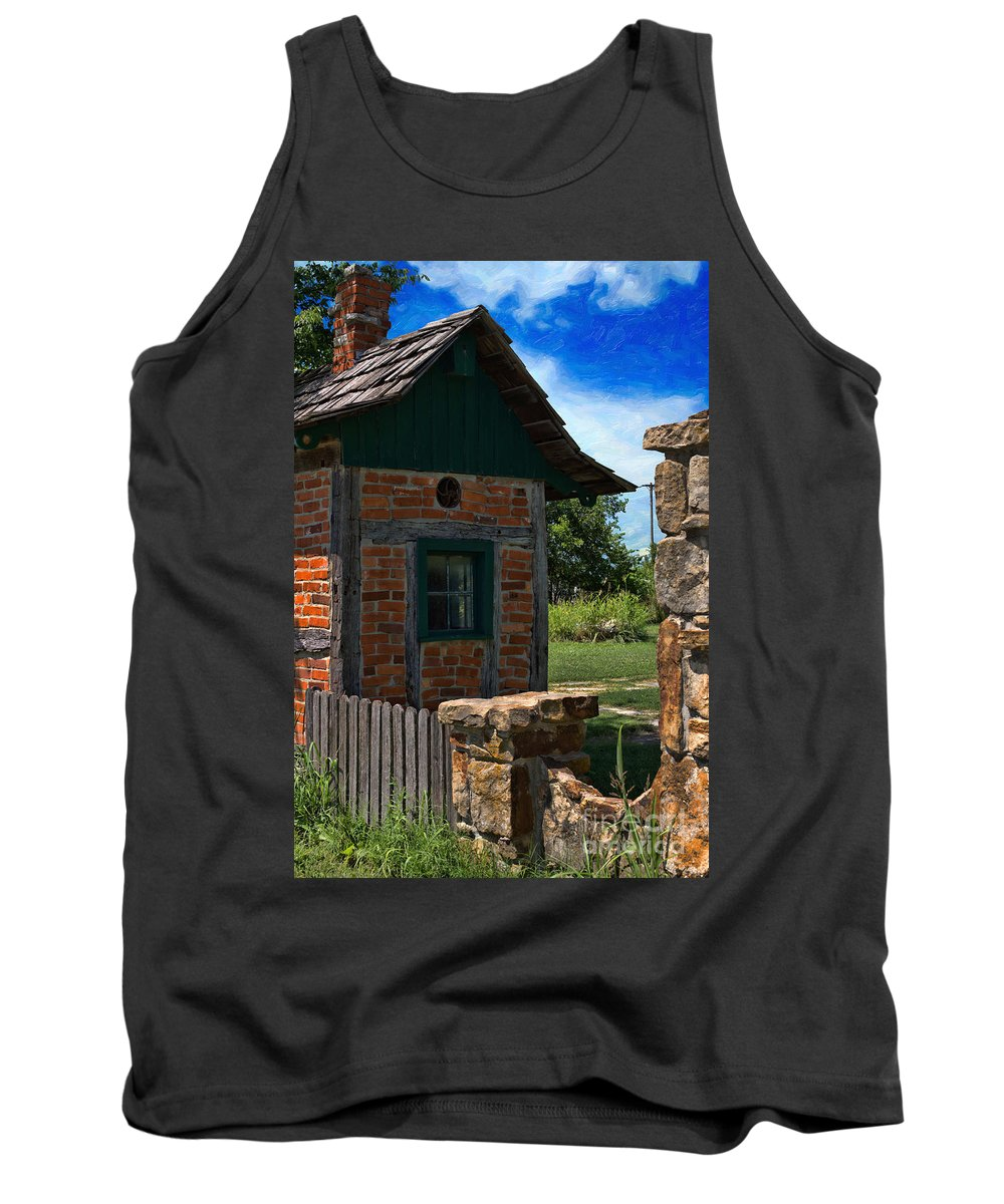 Old Brick Shed Tank Top featuring the photograph Old Brick Shed by Liane Wright