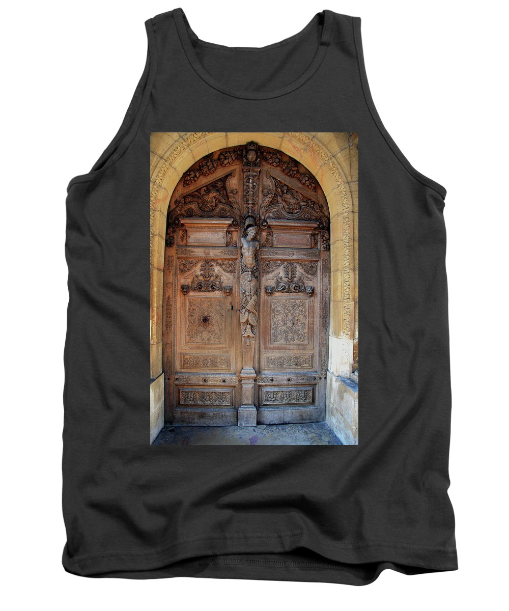 Door Tank Top featuring the photograph Old Carved Church Door by Christiane Schulze Art And Photography