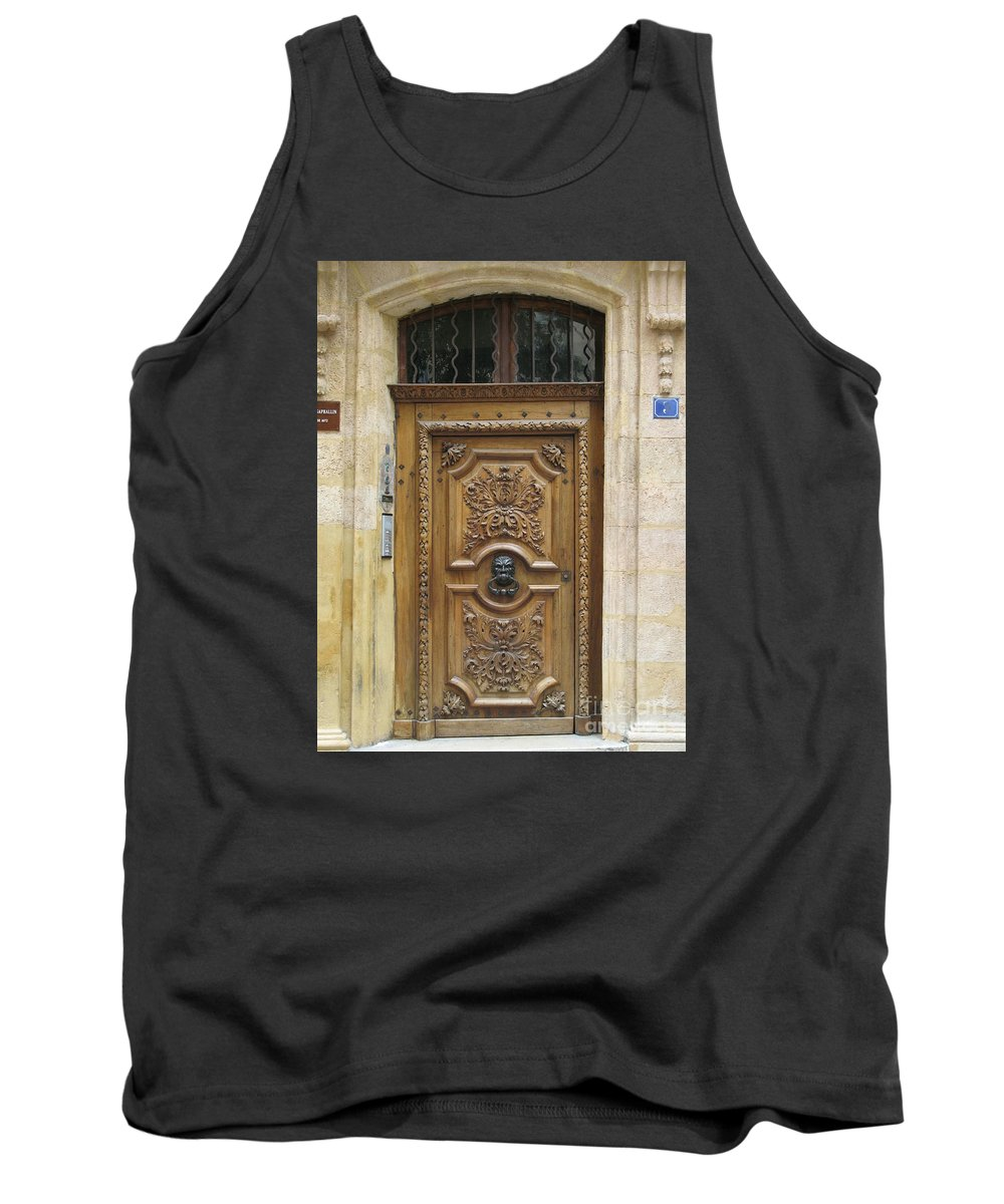 Door Tank Top featuring the photograph Old Carved Door by Christiane Schulze Art And Photography