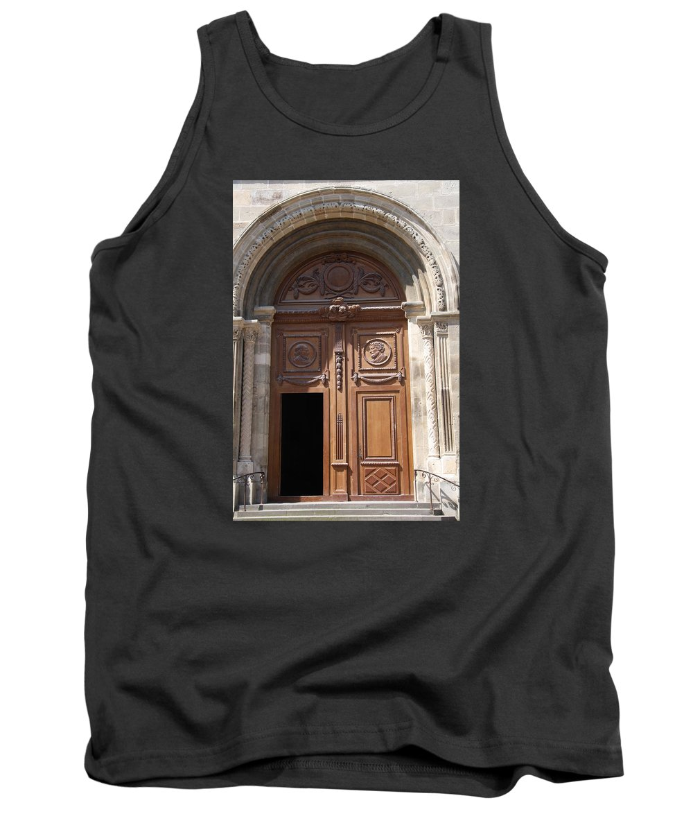 Door Tank Top featuring the photograph Old Church Door Cathedral Autun by Christiane Schulze Art And Photography