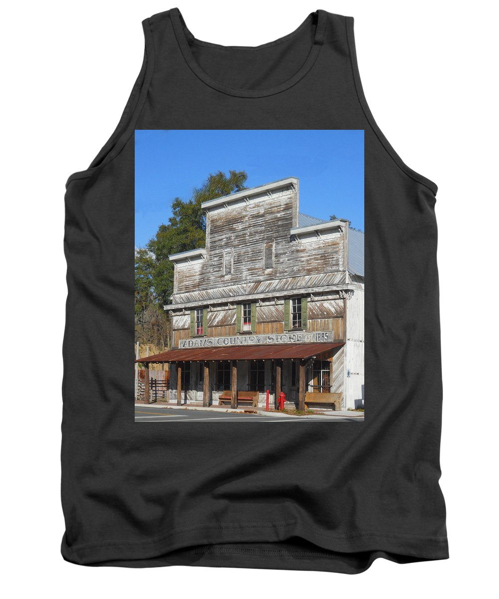 Vinage Tank Top featuring the photograph Old Country Store by Judy Hall-Folde