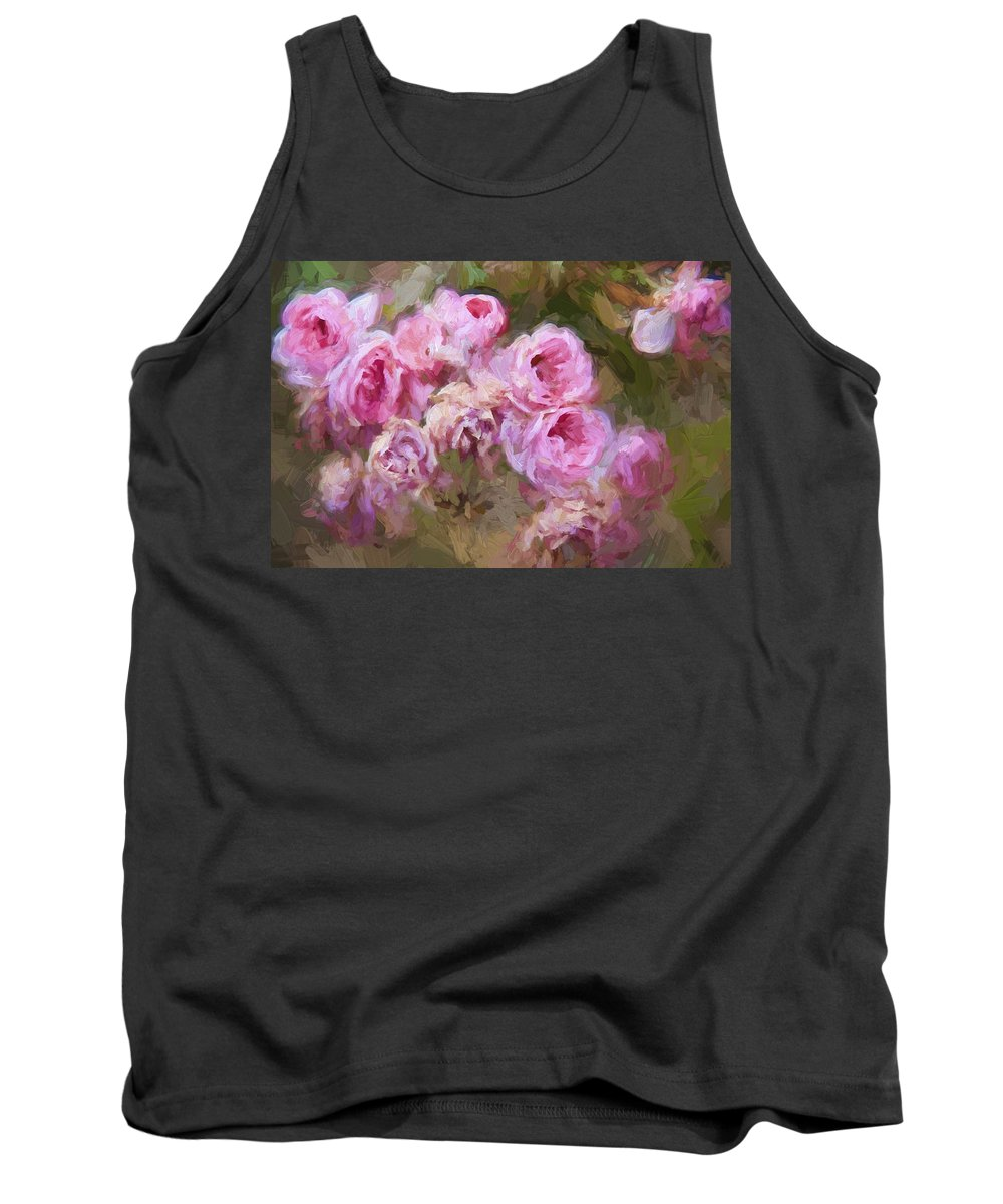 Pink Roses Tank Top featuring the photograph Old English Pink by Alice Gipson