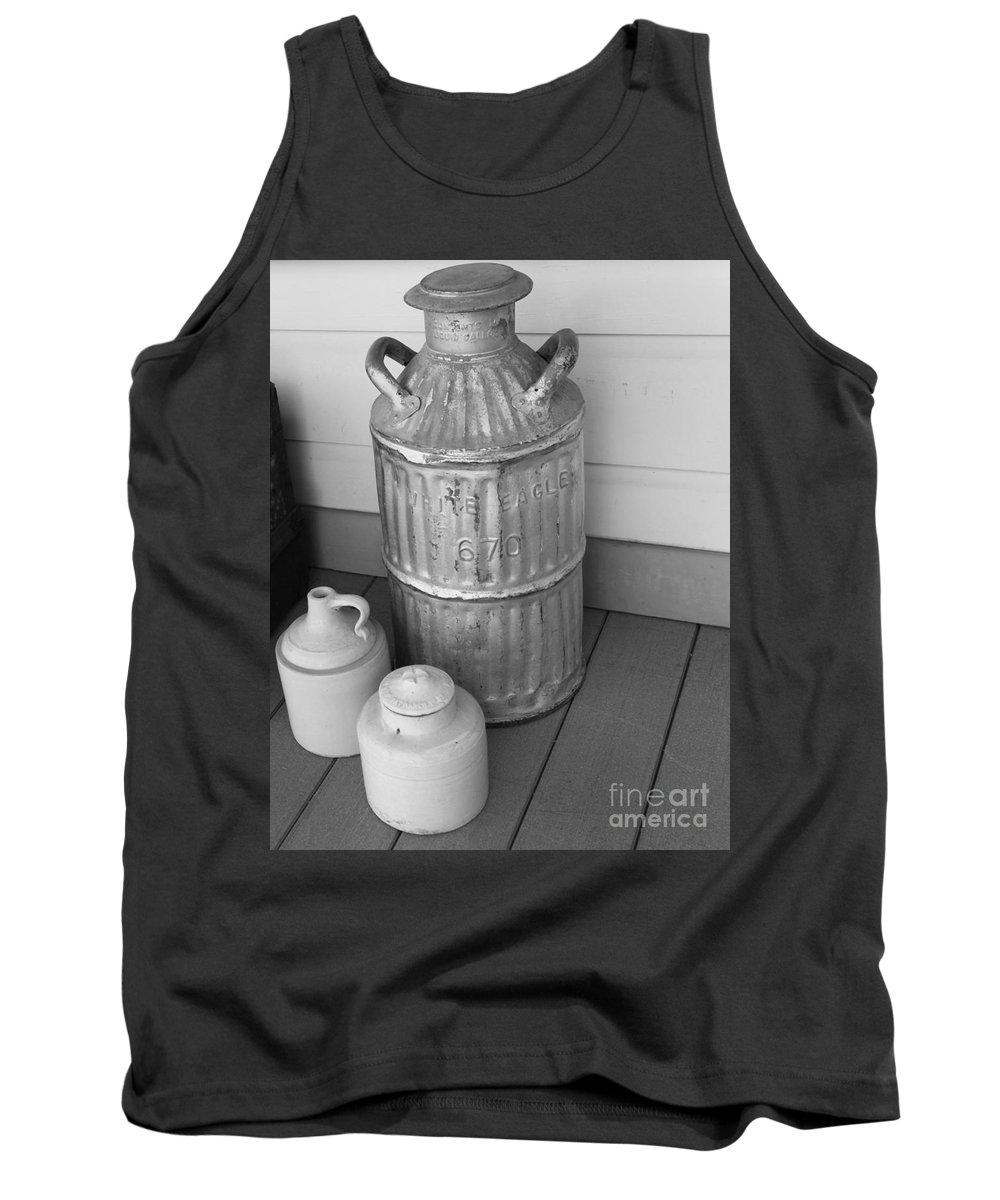 Old Fashion Milk Jug Photograph Tank Top featuring the photograph Old Fashion Milk Jug by David Millenheft